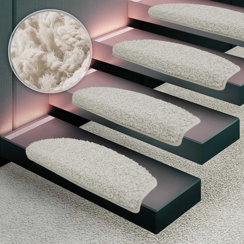Amazon.de: Shaggy Stufenmatten Premium S Line | 15 Stück Set | Creme