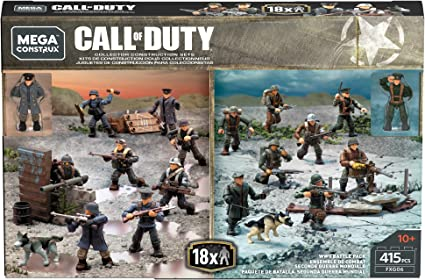 Amazon Com Mega Construx Call Of Duty Wwii Battle Pack Toys Games