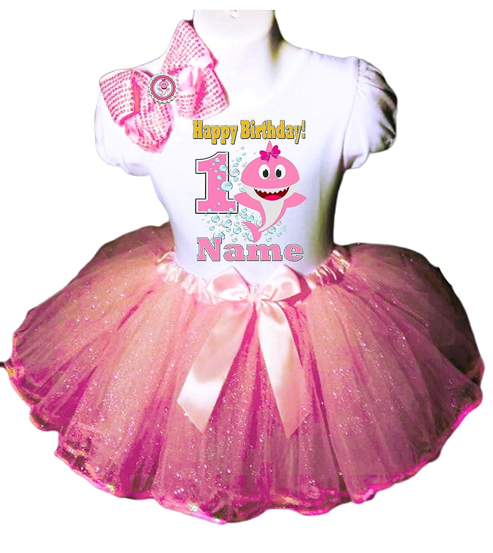 Baby Shark Birthday Party Dress 8st Birthday Tutu Outfit Shirt