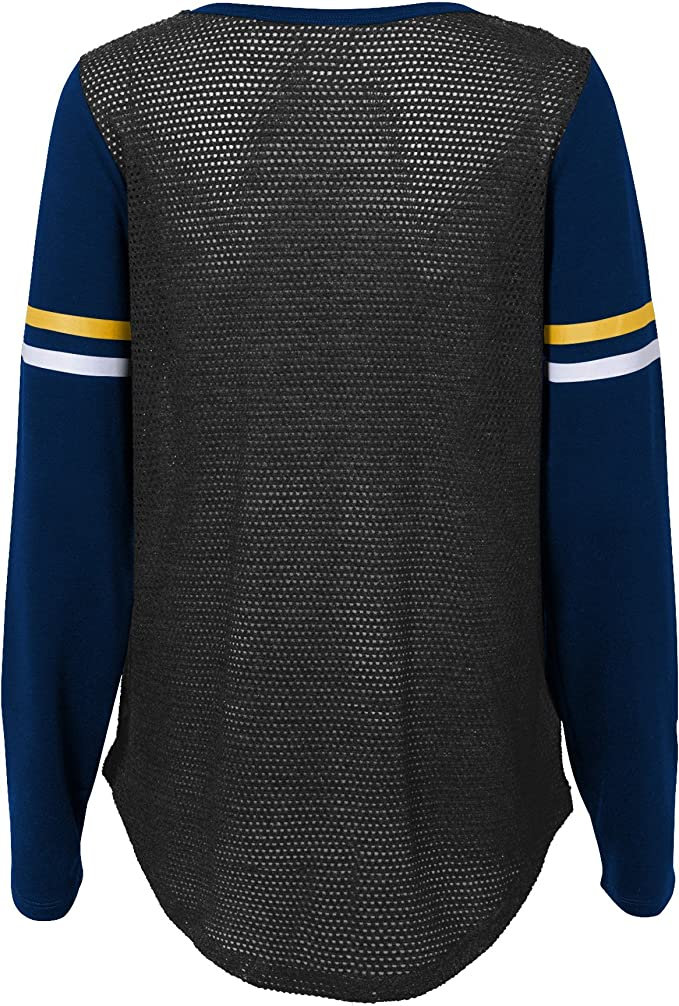 Youth X-Large Outerstuff NFL Los Angeles Rams Youth Boys Team Captain Long Sleeve Slub Tee Dark Navy 16