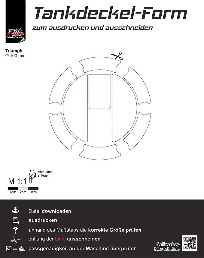 Bike Label 650004 Va Tankdeckel Pad Aufkleber Union Jack Passend Für Triumph Auto