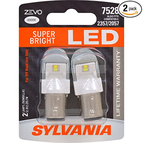 Amazon.com: SYLVANIA - 7528 ZEVO LED White Bulb - Bright LED Bulb, Ideal for Daytime Running Lights (DRL) and Back-Up/Reverse Lights (Contains 2 Bulbs): ...