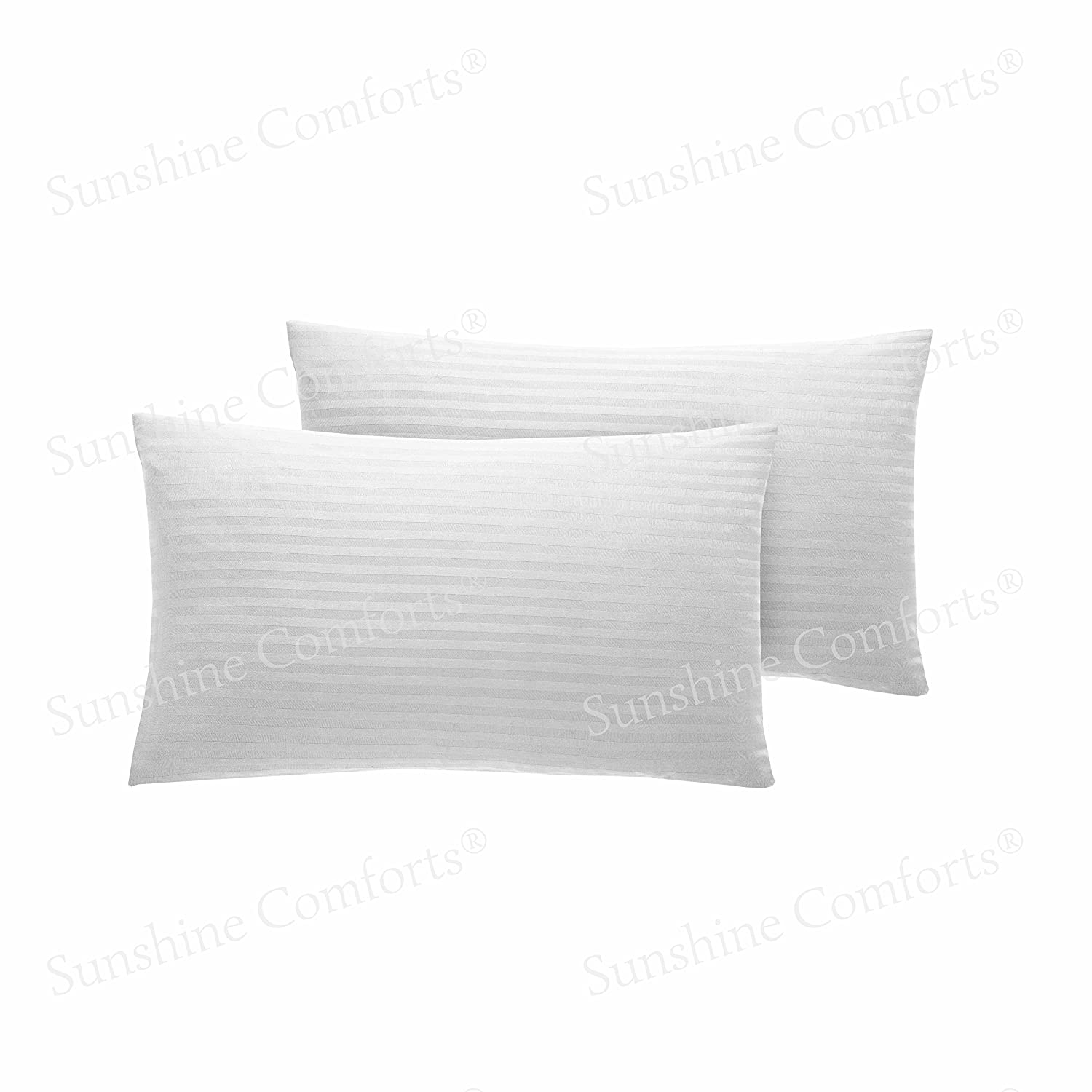 AmigoZone 100/% Egyption Cotton 200 Thread Count Cot Bed Fitted Sheet , White 40 x 60cm Cot Pillow Pair