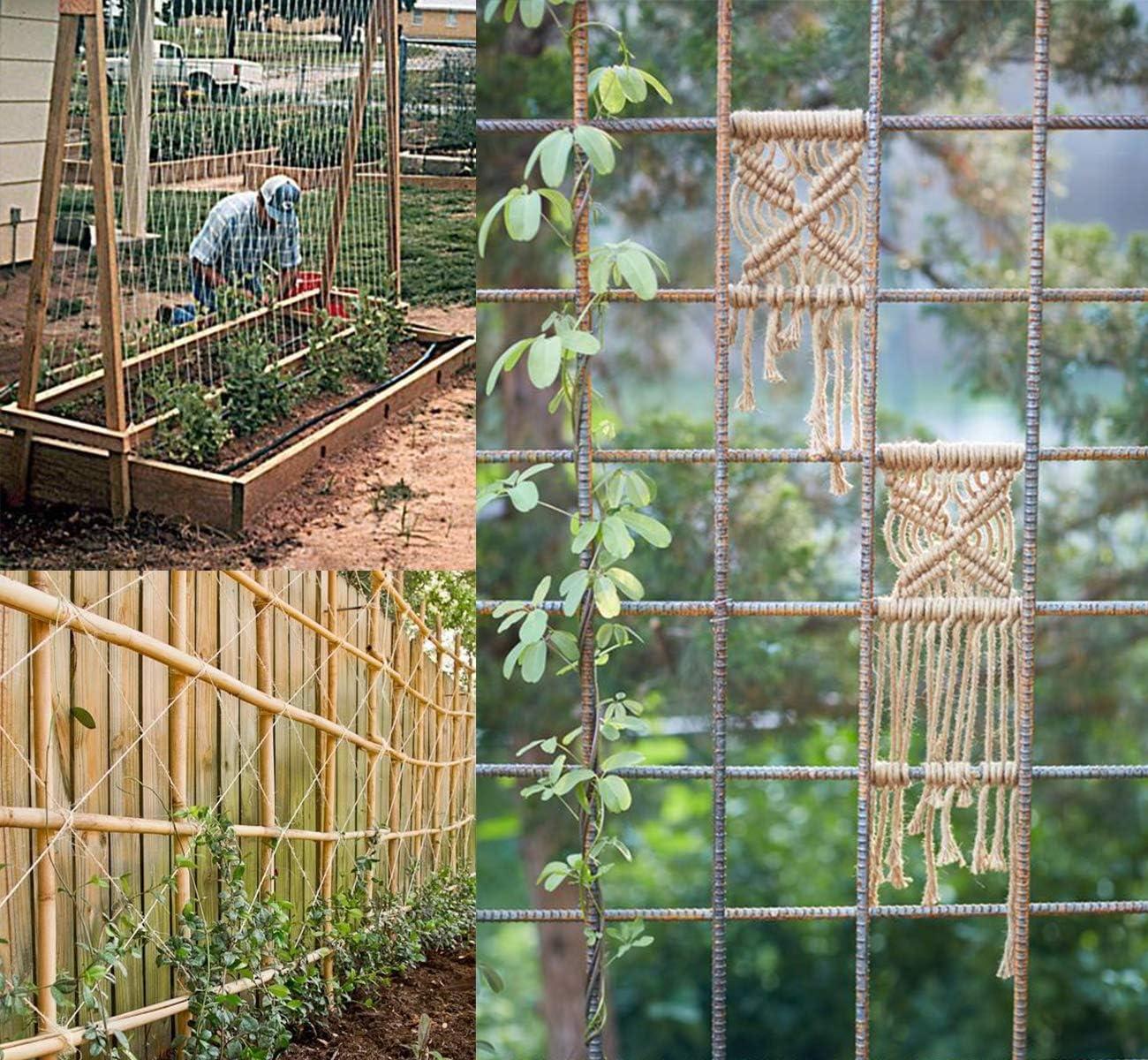 100M Garten Kordel 4 mm JuteSchnur Absofine Nat/ürliche Jute Bastelschnur f/ür Haushalt Garten DIY Kunsthandwerk Dekoration