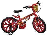 """Bicicleta Aro 16"""" Homem de Ferro Avengers Bandeirante Vermelho"""