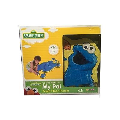 Sesame Street Cookie Monster My Pal Foam Floor Puzzle: Toys & Games