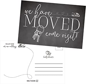 Set of 50 We've Moved Postcards, Change of New Address Moving Announcements, House Warming Gifts, Weve Moved Cards, We Have Just Moved Note Cards, Pack of Real Estate Home Postcard Announcement
