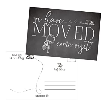 amazon com set of 50 we ve moved postcards change of new address
