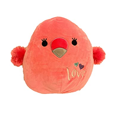 Squishmallow Kellytoy 2020 Valentines Squad 12 Inch Cookie The Flamingo Plush Doll…: Toys & Games