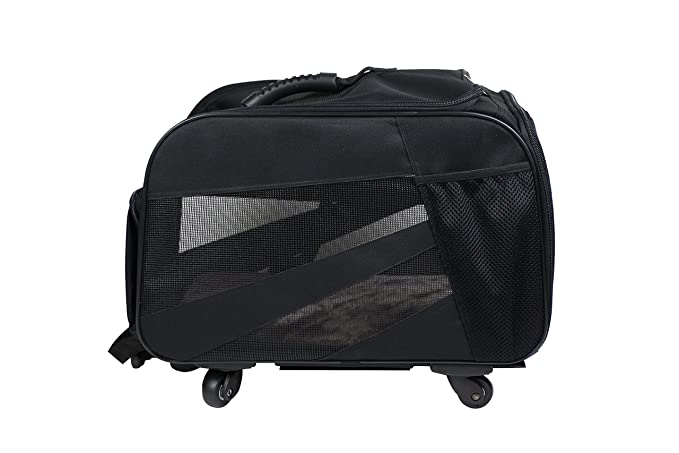 Amazon.com: dbest products Pet Smart Cart, Large, Black, Rolling Carrier with wheels soft sided collapsible Folding Travel Bag, Dog Cat Airline Approved ...