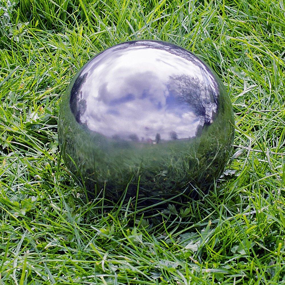 Gardens2you 35cm Stainless Steel Mirror Sphere Garden Ornament