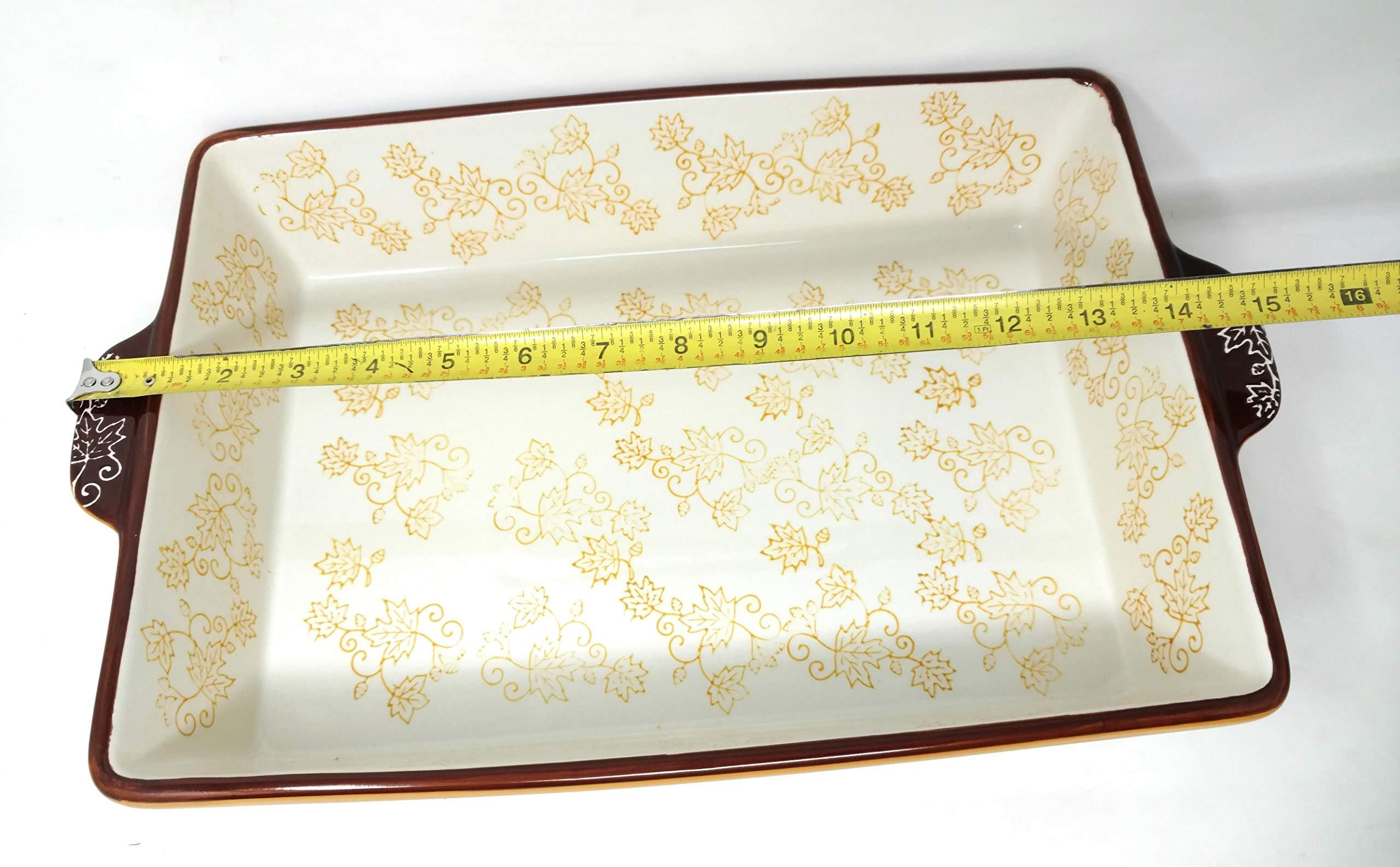 Temp-tations 4 Qt Baker Casserole Dish (13x9) w/Cookie Sheet(Lid-It) (Old World Spice) by Temptations (Image #5)