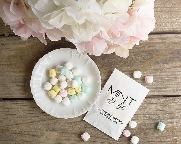 amazon com mint wedding favors candy favor bags bridal shower