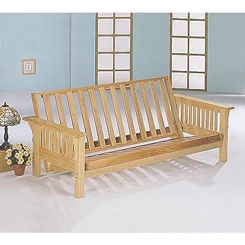 coaster home furnishings 4838 casual futon frame natural