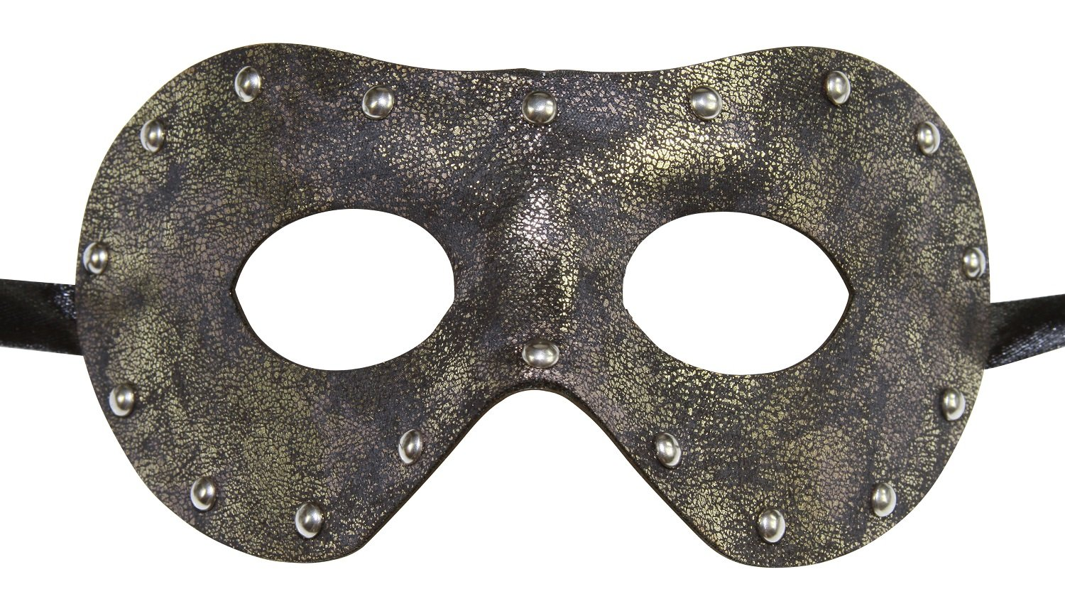 KAYSO INC Men's Leather Masquerade Mask (Rustic Gray)