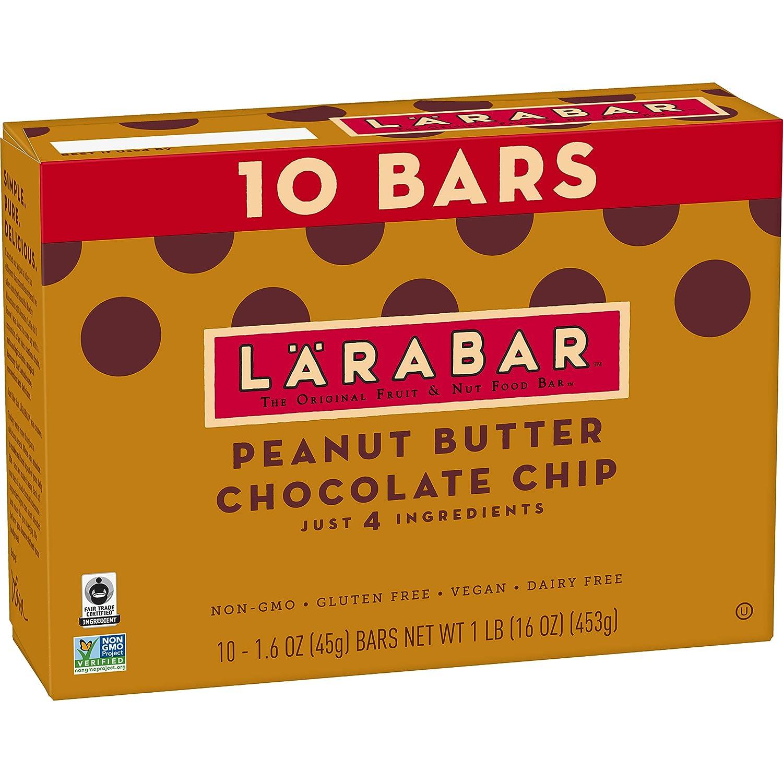 Larabar, Gluten Free Bar, Peanut Butter Chocolate Chip, Vegan (10 Bars)