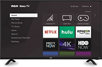 "RCA 43/"" Inch FHD 1080P FULL HD  Roku Build-In Smart LED TV NEW!"