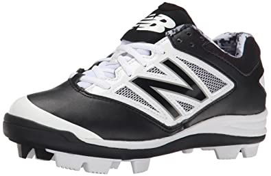 bf9a7af81408 New Balance Low-Cut 4040v3 Kids Rubber Molded Baseball Cleat Black/White