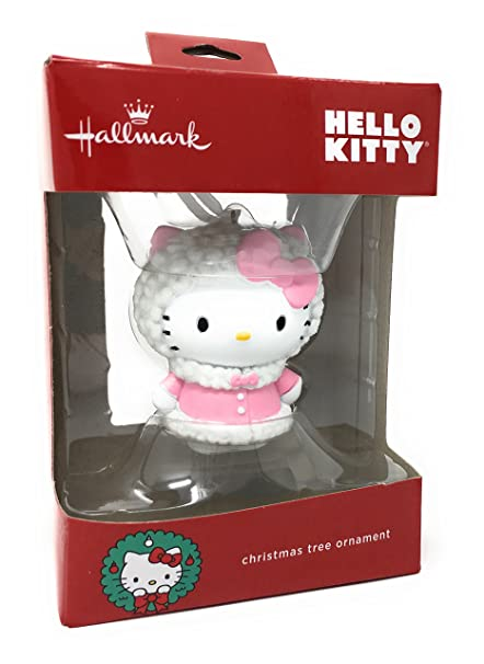 Amazon Com Hello Kitty Christmas Ornament By Hallmark Home Kitchen