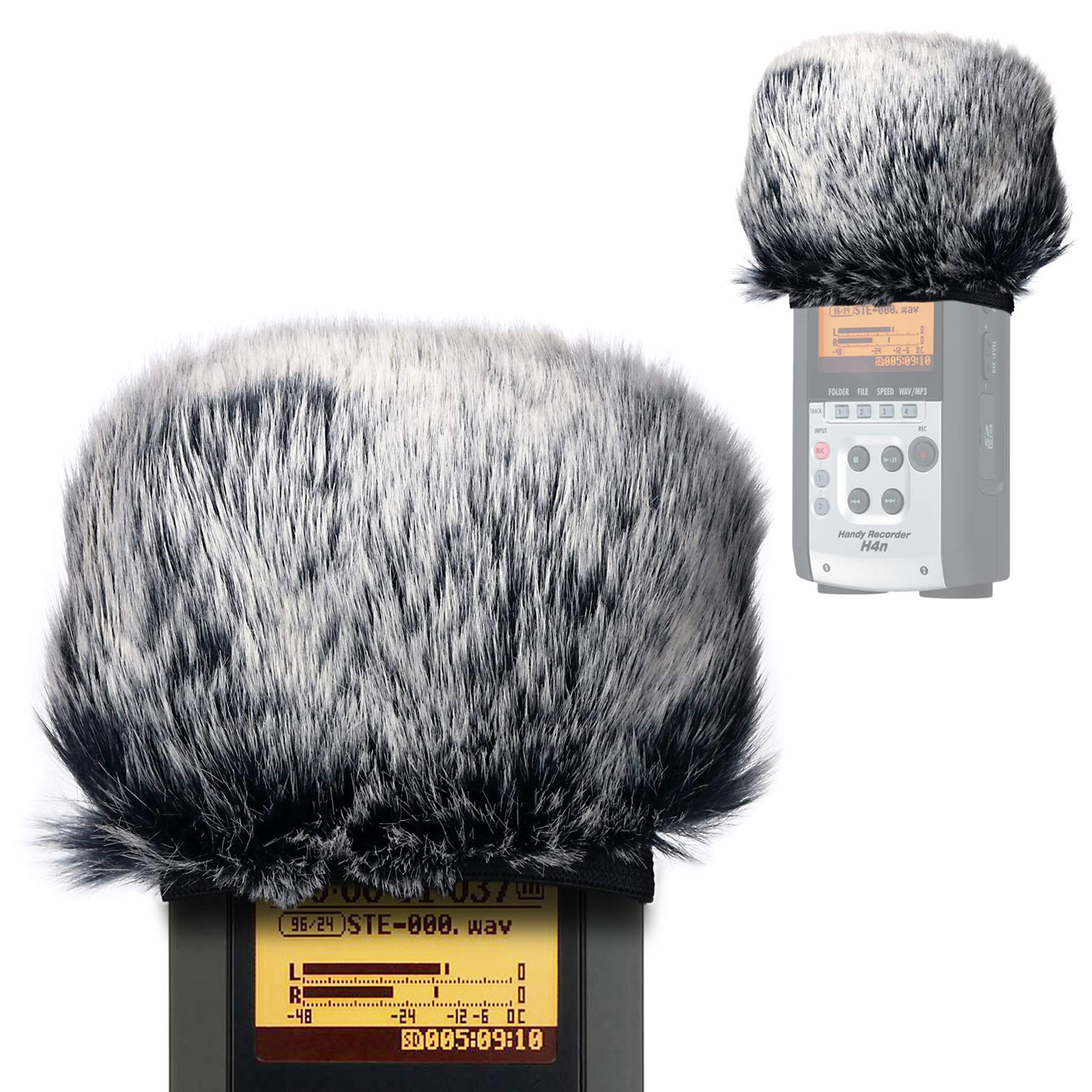 Furry Outdoor Microphone Windscreen Muff for Zoom H4N Pro Portable Digital Recorders, Zoom Mic Windscreen Fur Windshield Dead Cat Wind Cover Pop Filter by YOUSHARES