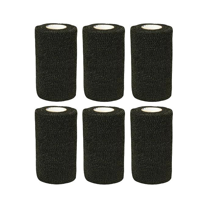 1 opinioni per Bendaggio elastico adesivo 6 rotoli x 10 cm x 4,5 m Nero