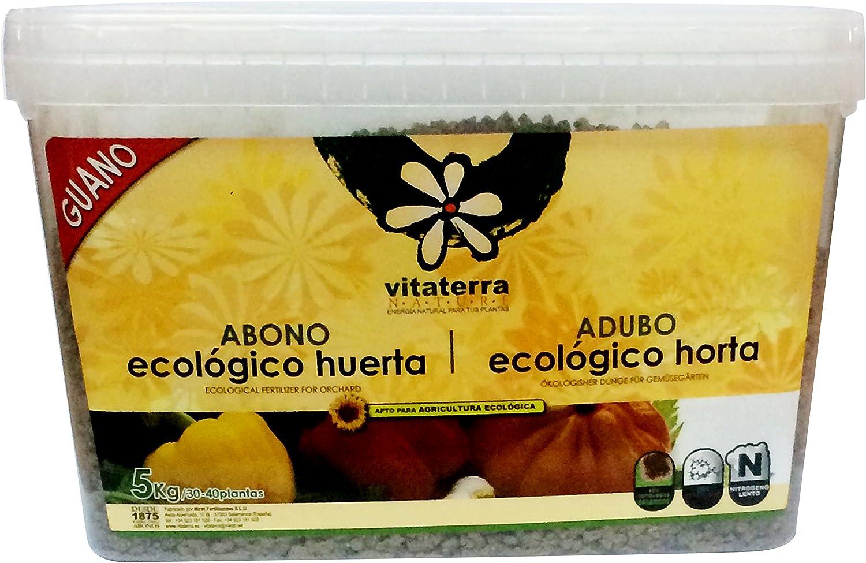 Vitaterra Guano Abono Ecológico para Huerto 5 kg, 16160: Amazon.es ...