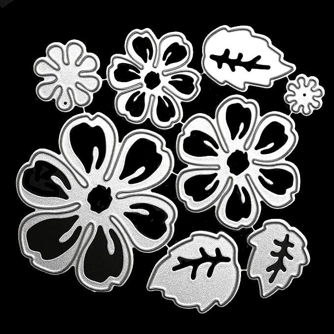 Flowers Metal Cutting Dies Stencil  Scrapbooking Embossing Craft Gift