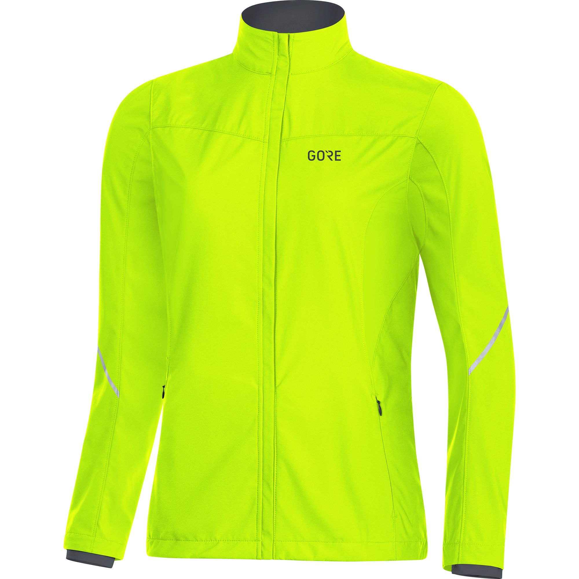 GORE WEAR Women's R3 Partial Windstopper Jacket, Neon Yellow, Small