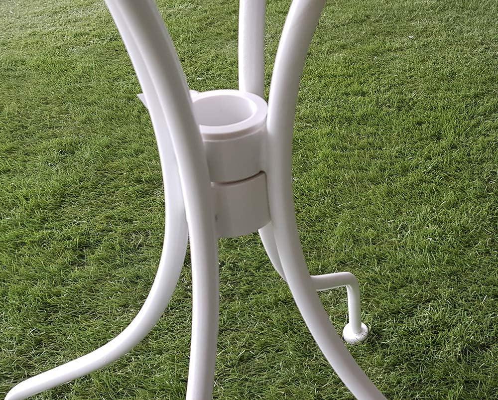 XONE SRL Tavolino David Tondo Stile Antico d Bianco 60 cm Stile Liberty