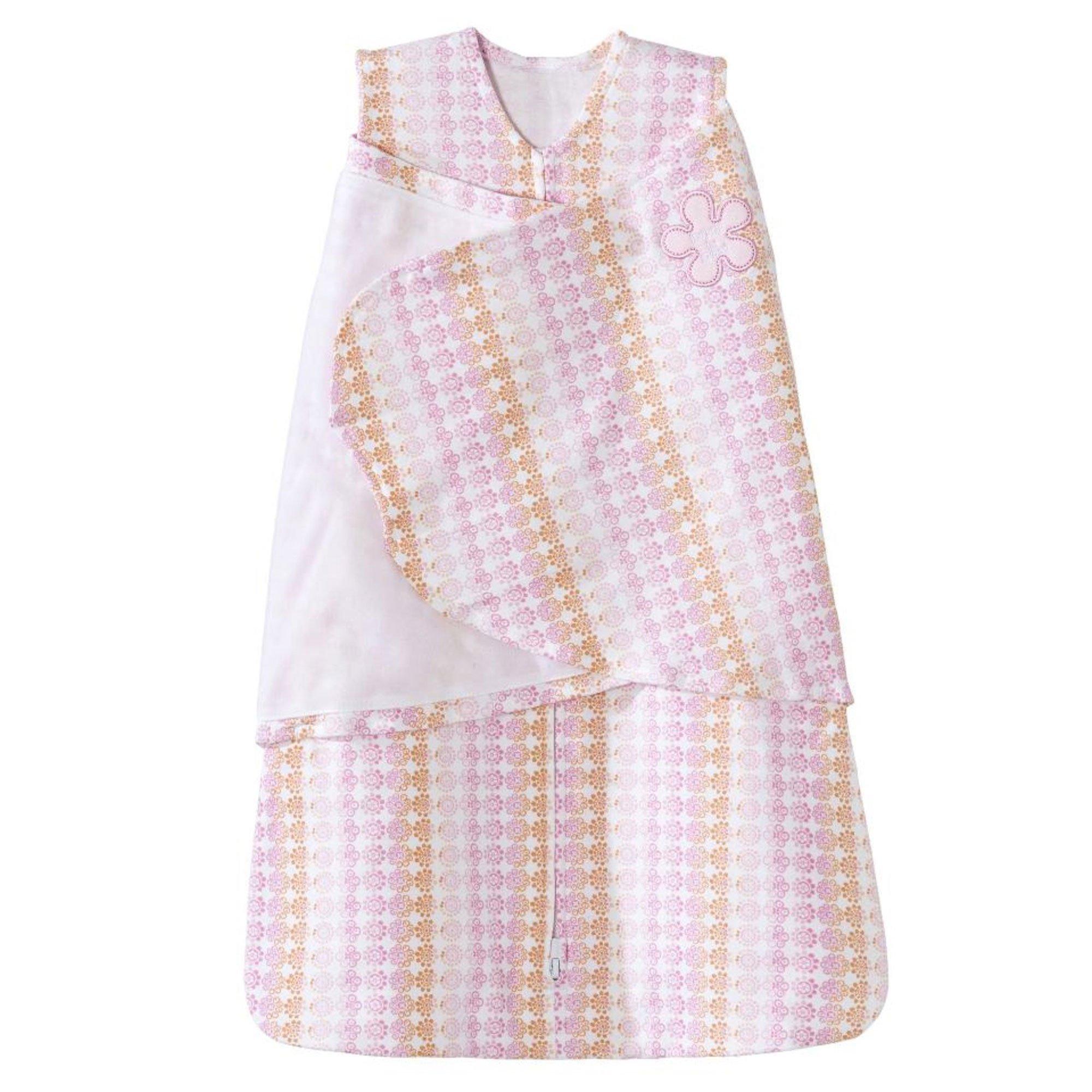 HALO SleepSack 100% Cotton Swaddle, Floral Ombre, Newborn