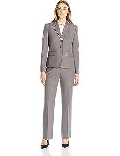 Amazon Com Le Suit Women S Pinstripe 2 Button Jacket Pant Clothing