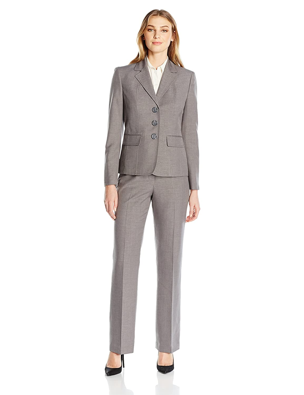 LeSuit Womens 3 Button Grey Pant Suit Le Suit Women' s Suits 50035803-D61