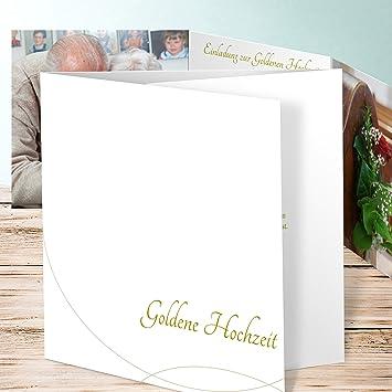 Einladungskarte Goldene Hochzeit Weißer Traum 100 Karten