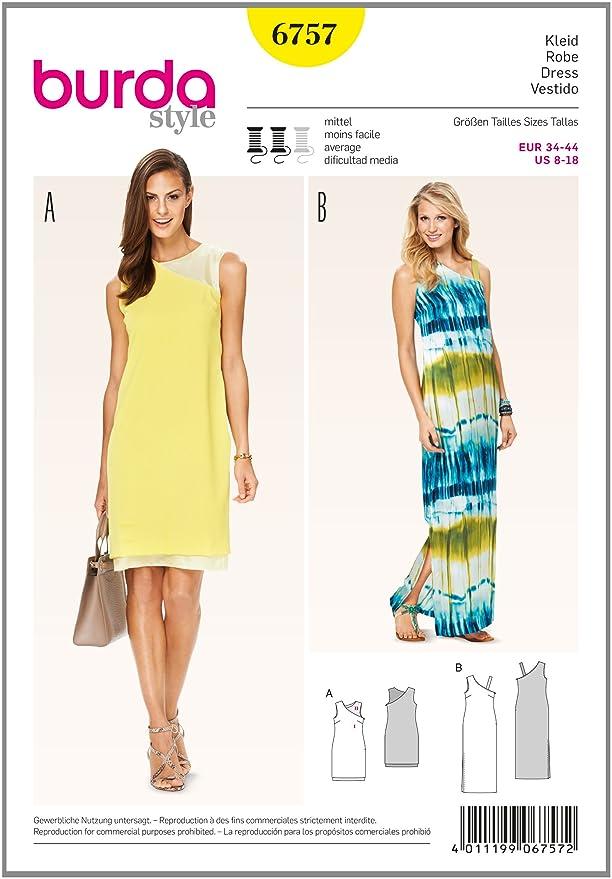 Burda Schnittmuster Kleid 6757: Amazon.de: Küche & Haushalt