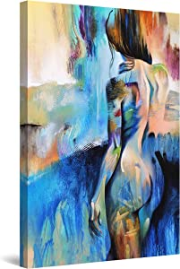 Startonight Canvas Wall Art Decor Abstract Woman Silhouette Painting for Living Room 32