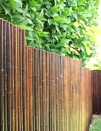 DE-COmmerce Robusto Bambú Madera Vista de Protección Valla Aty Nigra i Paravientos Terraza, Balcón, Jardín i Tubo de Bambú Valla con Geschlossenen Tubos - Marrón, 100 cm x 250 cm: Amazon.es: Jardín