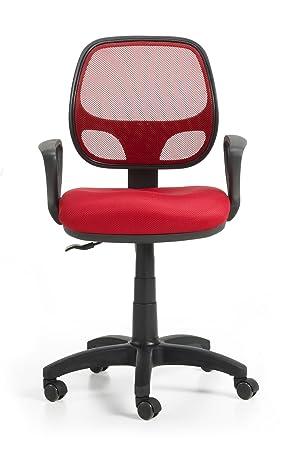Due-home Silla juvenil silla de escritorio, color rojo: Amazon.es: Hogar