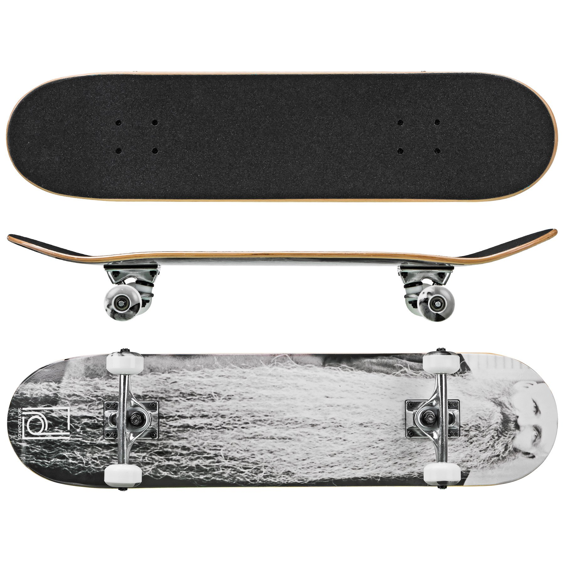 Roller Derby Rd Deluxe Series Skateboard The Beard, Multi, 31'' x 8''