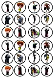 24 Hotel Transylvania PRECUT Edible Cupcake Toppers - Wafer Card disc Cake Decorations Stand UP