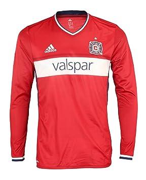 Adidas MLS fútbol de Hombre Manga Larga auténtico Jersey, Chicago Fire