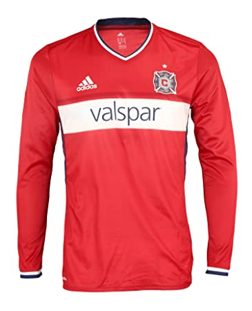 finest selection f2285 5ccc4 adidas MLS Soccer Chicago Fire Men's Long Sleeve Authentic Jersey, Red