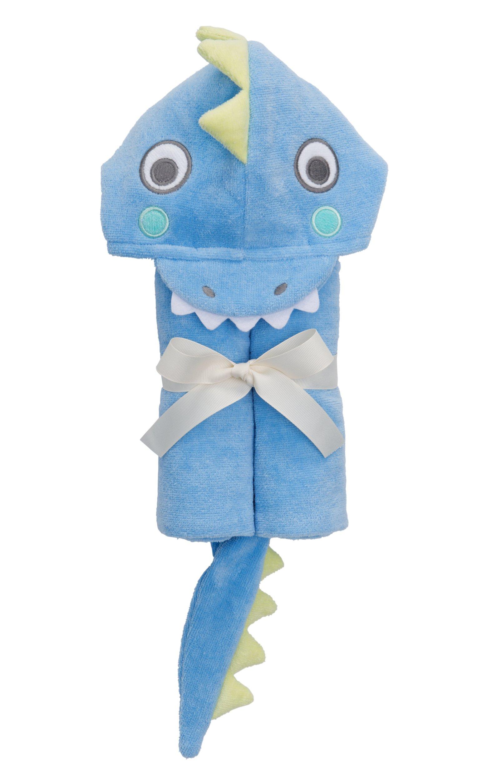 Elegant Baby Top Selling  Bath Gift - Cotton Hooded Towel Wrap, Blue Sea Serpant by Elegant Baby