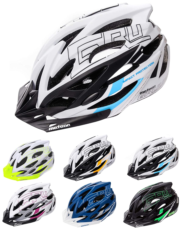 meteor® Casco Bicicleta Helmet de Bici para jóvenes y Adultos para Ciclismo MTB Road Race Montaña BMX Carretera y Otras Formas de Actividad Ciclista ...
