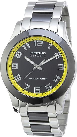 Bering Radio-Ceramic 33041-727 - Reloj analógico de Cuarzo para Hombre, Correa de Diversos Materiales Multicolor (Radio)