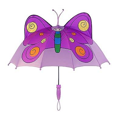 Kidorable Paraguas Marca Original para Niños y Niñas (Mariposa)