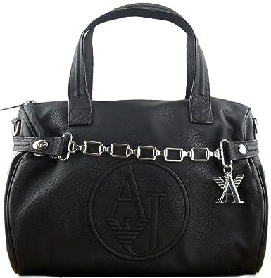 90d2beb4af7c Armani Jeans Women s Faux Leather Box Handbag Black  Amazon.co.uk  Shoes    Bags
