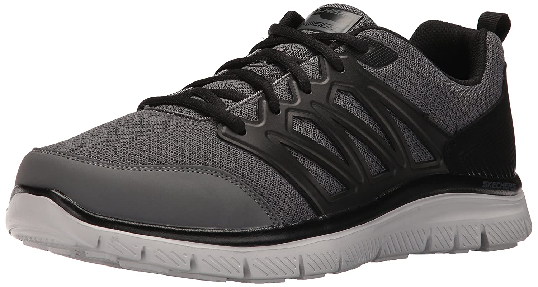 Skechers Men's Flex Advantage 1.0 Sheaks Fashion Sneaker B06XB96FS6 12 D(M) US|Gray/Black