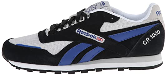Amazon.com | Reebok Men's CR 1000 TXT Classic Shoe, Black/Steel/Team Dark  Royal/White, 12 M US | Fashion Sneakers