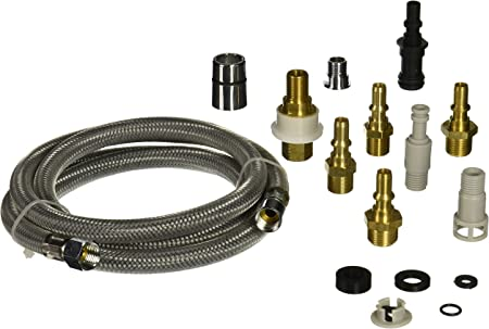 DANCO Kitchen Faucet Pull-Out Spray Hose Replacement Kit for Pullout  Sprayer Heads | Quick Connect Adapters | 10 Piece Adapter Kit | 57 inch  Nylon ...