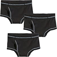 City Threads Boys All Cotton Briefs Underwear 3-Pack for Sensitive Skin Made in USA